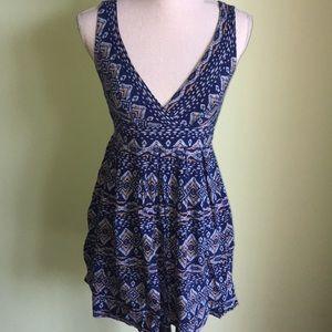 Forever 21 Blue Print Dress